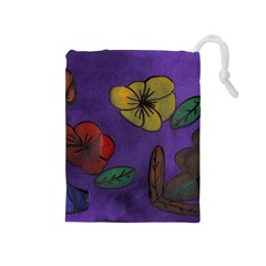 Flowers Drawstring Pouches (medium)