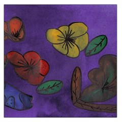 Flowers Large Satin Scarf (square)
