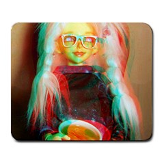 Eating Lunch 3d Large Mousepads