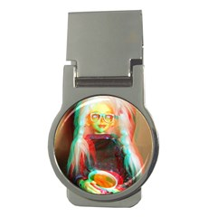 Eating Lunch 3d Money Clips (round)