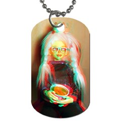 Eating Lunch 3d Dog Tag (two Sides)
