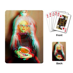 Eating Lunch 3d Playing Card