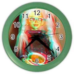 Eating Lunch 3d Color Wall Clocks