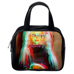Eating Lunch 3d Classic Handbags (one Side)