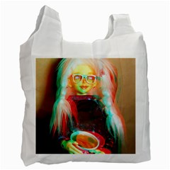 Eating Lunch 3d Recycle Bag (two Side)