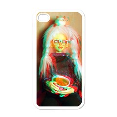 Eating Lunch 3d Apple Iphone 4 Case (white)