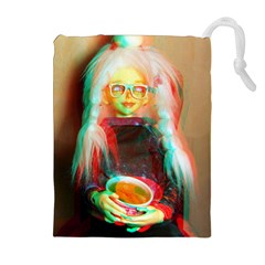 Eating Lunch 3d Drawstring Pouches (extra Large)
