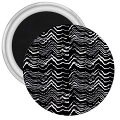 Dark Abstract Pattern 3  Magnets