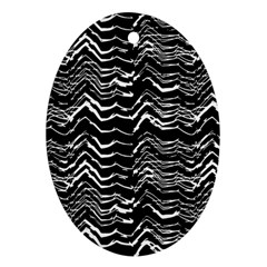 Dark Abstract Pattern Ornament (oval)