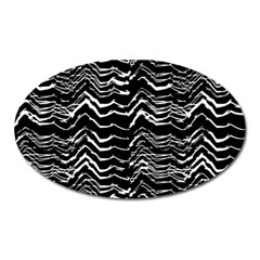Dark Abstract Pattern Oval Magnet
