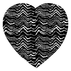 Dark Abstract Pattern Jigsaw Puzzle (heart)