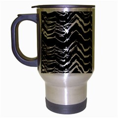 Dark Abstract Pattern Travel Mug (silver Gray)