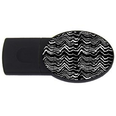Dark Abstract Pattern Usb Flash Drive Oval (4 Gb)
