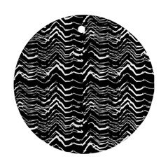 Dark Abstract Pattern Round Ornament (two Sides)