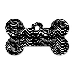 Dark Abstract Pattern Dog Tag Bone (one Side)