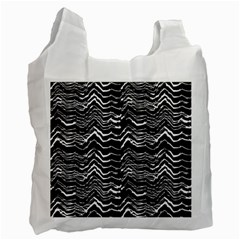 Dark Abstract Pattern Recycle Bag (one Side)
