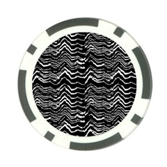 Dark Abstract Pattern Poker Chip Card Guard (10 Pack)