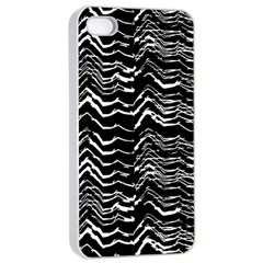 Dark Abstract Pattern Apple Iphone 4/4s Seamless Case (white)