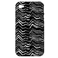 Dark Abstract Pattern Apple Iphone 4/4s Hardshell Case (pc+silicone)