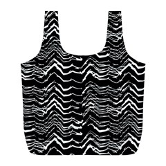 Dark Abstract Pattern Full Print Recycle Bags (l)