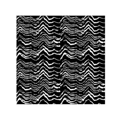 Dark Abstract Pattern Small Satin Scarf (square)