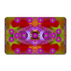 Shimmering Pond With Lotus Bloom Magnet (rectangular)
