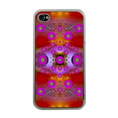Shimmering Pond With Lotus Bloom Apple Iphone 4 Case (clear)