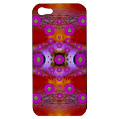 Shimmering Pond With Lotus Bloom Apple Iphone 5 Hardshell Case