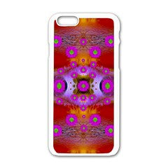 Shimmering Pond With Lotus Bloom Apple Iphone 6/6s White Enamel Case