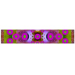 Shimmering Pond With Lotus Bloom Large Flano Scarf