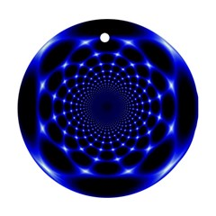 Indigo Lotus 2 Round Ornament (two Sides)