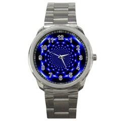 Indigo Lotus  Sport Metal Watch