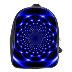 Indigo Lotus  School Bag (large)