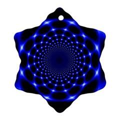 Indigo Lotus  Snowflake Ornament (two Sides)