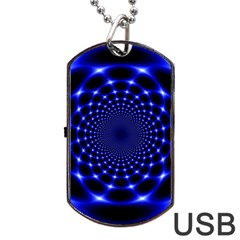 Indigo Lotus  Dog Tag Usb Flash (two Sides)