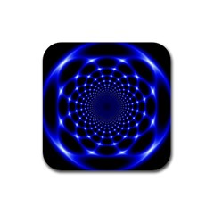 Indigo Lotus  Rubber Coaster (square)
