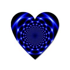 Indigo Lotus  Heart Magnet