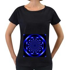 Indigo Lotus  Women s Loose Fit T Shirt (black)