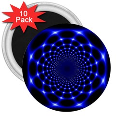 Indigo Lotus  3  Magnets (10 Pack)