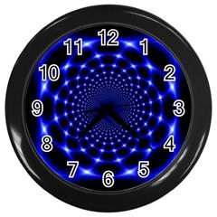 Indigo Lotus  Wall Clocks (black)