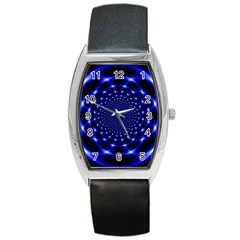 Indigo Lotus  Barrel Style Metal Watch