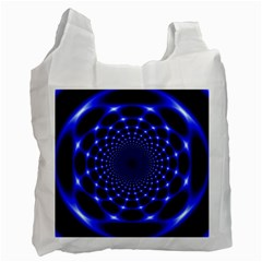 Indigo Lotus  Recycle Bag (one Side)