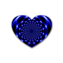 Indigo Lotus  Rubber Coaster (heart)