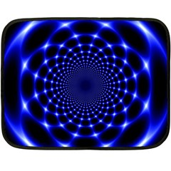 Indigo Lotus  Double Sided Fleece Blanket (mini)