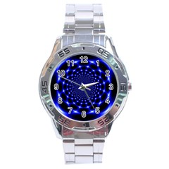 Indigo Lotus  Stainless Steel Analogue Watch