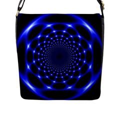 Indigo Lotus  Flap Messenger Bag (l)