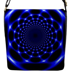 Indigo Lotus  Flap Messenger Bag (s)