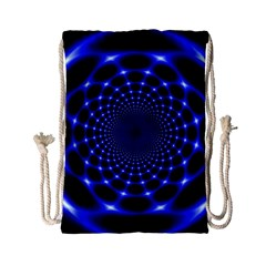 Indigo Lotus  Drawstring Bag (small)