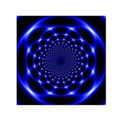 Indigo Lotus  Small Satin Scarf (square)