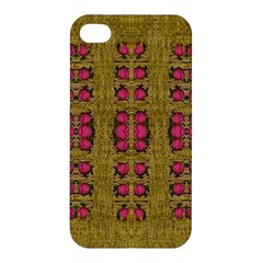 Bloom In Gold Shine And You Shall Be Strong Apple Iphone 4/4s Hardshell Case